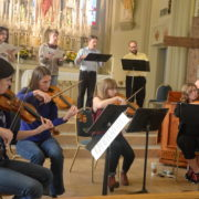 Mountainside Baroque in rehearsal copy